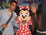Sonya and Travis with Minnie Mouse