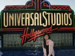 Sonya and the Universal Studios sign