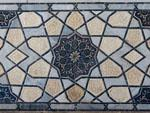 Blue mosaics of Bibi-Khanym Mosque