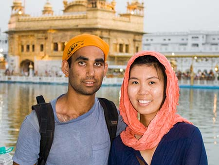 Travis and Sonya at the Golden Temple