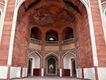 One of the main exterior arches of Humayun's Tomb