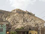 At the base of Aravalli Hill with Nahargarh Fort on top
