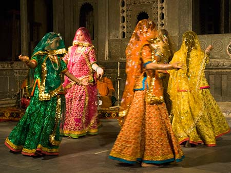 Traditional Rajasthani dance known as Ghoomar.