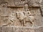 Equestrian Sassanid relief