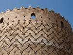 East round brick tower of the Arg of Karim Khan
