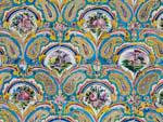 Beautiful mosaics found on the walls in Golestan Palace