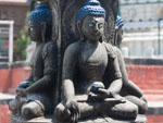 Buddha stone statues inside the Shigha Bihar