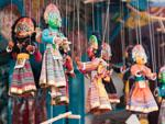 Colourful string puppets for sale