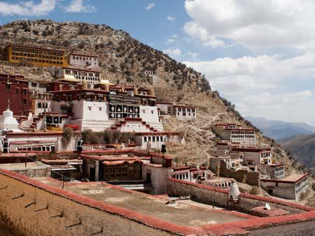 Ganden Monastery taken from the left side