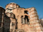 Chora Church outside red brick